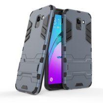 Samsung Galaxy J6 (2018) 2in1 Tok Ütésálló - Kitámasztható TPU Hybrid Sötétkék