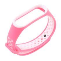 Xiaomi Mi Band 3 Óraszíj - Pótszíj TwoTone Style Pink/Fehér