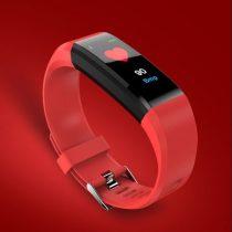 Okos Karkötő - RMPACK - 115 Plus ( Színes kijelző - Pulzusmérő - IP67 - Értesítések - Alvásfigyelő ) iOS / Android Piros