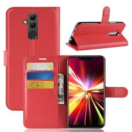 Huawei Mate 20 Lite Notesz Tok Business Series Kitámasztható - Bankkártyatartóval Piros