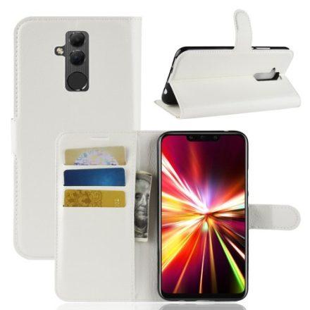 Huawei Mate 20 Lite Notesz Tok Business Series Kitámasztható - Bankkártyatartóval Fehér