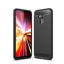 Huawei Mate 20 Lite Tok Szilikon Ütésállókivitel Karbon Mintázattal Fekete