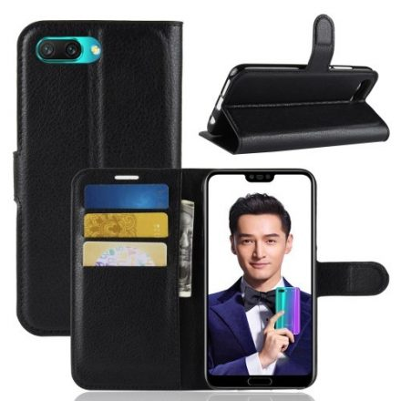 Huawei Honor 10 Tok Notesz Bankkártyatartóval Business Series Fekete