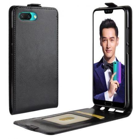 Huawei Honor 10 Flip Notesz Tok Mágneses Fekete