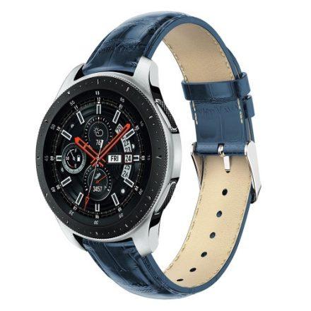 Samsung Galaxy Watch 46mm Pótszíj - Óraszíj Krokodil Bőrmintás Kék