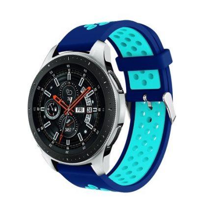 Pótszíj - Szilikon Óraszíj Samsung Galaxy Watch 46mm TwoTone Series Sötétkék/Világoskék