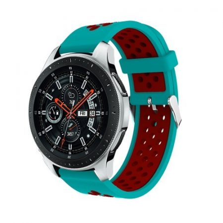 Pótszíj - Szilikon Óraszíj Samsung Galaxy Watch 46mm TwoTone Series Kék/Piros