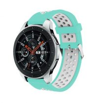 Pótszíj - Szilikon Óraszíj Samsung Galaxy Watch 46mm TwoTone Series Cián/Fehér