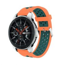 Pótszíj - Szilikon Óraszíj Samsung Galaxy Watch 46mm TwoTone Series Narancssárga/Zöld