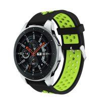 Pótszíj - Szilikon Óraszíj Samsung Galaxy Watch 46mm TwoTone Series Fekete/Zöld
