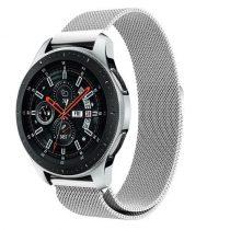 Samsung Galaxy Watch 46mm FémSzíj - Pótszíj Mágneses Ezüst