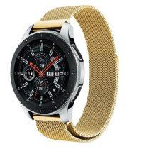 Samsung Galaxy Watch 46mm FémSzíj - Pótszíj Mágneses Arany