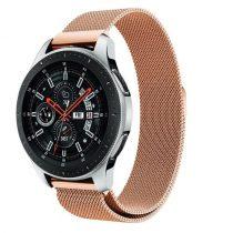 Samsung Galaxy Watch 46mm FémSzíj - Pótszíj Mágneses Rózsaarany