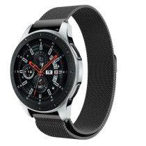 Samsung Galaxy Watch 46mm FémSzíj - Pótszíj Mágneses Fekete