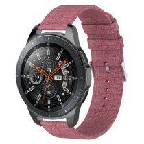 Samsung Galaxy Watch 46mm Óraszíj - Pótszíj Textil Canvas Pink