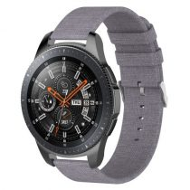 Samsung Galaxy Watch 46mm Óraszíj - Pótszíj Textil Canvas Szürk