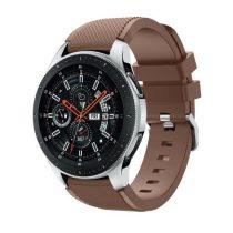 Szilikon Óraszíj - Pótszíj Samsung Galaxy Watch 46mm - Sport Style Series Barna