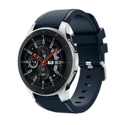 Szilikon Óraszíj - Pótszíj Samsung Galaxy Watch 46mm - Sport Style Series Sötétkék