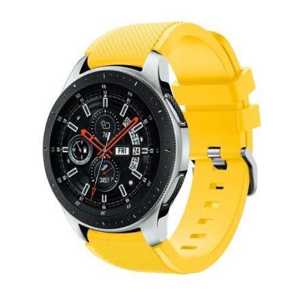 Szilikon Óraszíj - Pótszíj Samsung Galaxy Watch 46mm - Sport Style Series Sárga