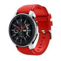 Szilikon Óraszíj - Pótszíj Samsung Galaxy Watch 46mm - Sport Style Series Piros