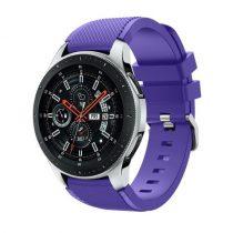 Szilikon Óraszíj - Pótszíj Samsung Galaxy Watch 46mm - Sport Style Series Lila