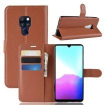 Huawei Mate 20 Notesz Tok Kitámasztható Kártyatartóval Business Series Barna