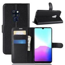 Huawei Mate 20 Notesz Tok Kitámasztható Kártyatartóval Business Series Fekete
