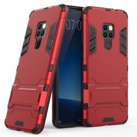 Huawei Mate 20 Védőtok 2in1 Tok Ütésálló - Kitámasztható TPU Hybrid Piros
