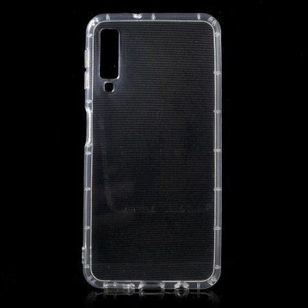 Samsung Galaxy A7 (2018) Ütésálló Szilikon Tok Shock TPU GEL Series Áttetsző