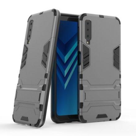 Samsung Galaxy A7 (2018) 2in1 Tok Ütésálló - Kitámasztható TPU Hybrid Szürke