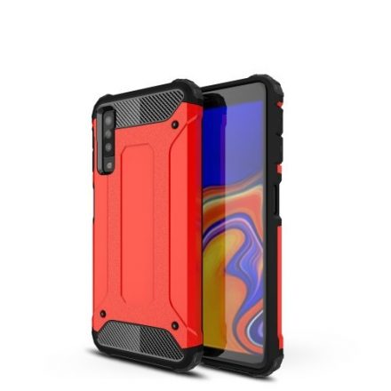 Samsung Galaxy A7 (2018) Ütésálló Armor Tok Guard Series 2in1 Piros