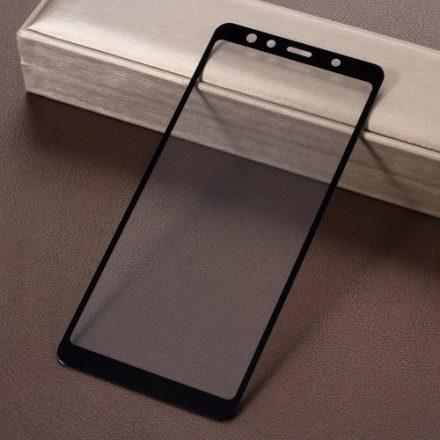 Samsung Galaxy A7 (2018) Tempered Glass - Kijelzővédő Üveg FULL 3D Fekete