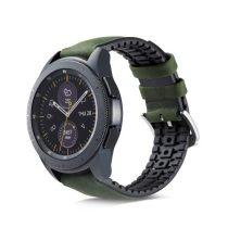 Huawei Watch GT Pótszíj - Óraszíj Bőr / Szilikonbelsővel Mintás A01