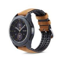 Huawei Watch GT Pótszíj - Óraszíj Bőr / Szilikonbelsővel Mintás A03