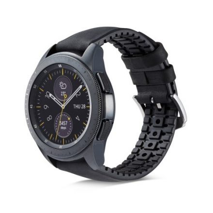 Huawei Watch GT Pótszíj - Óraszíj Bőr / Szilikonbelsővel Mintás A05