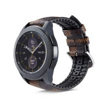 Huawei Watch GT Pótszíj - Óraszíj Bőr / Szilikonbelsővel Mintás A06