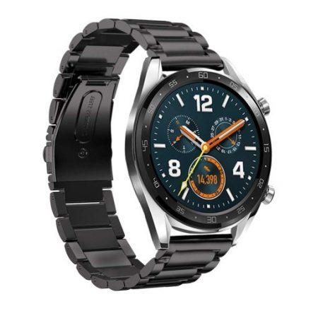 Huawei Watch GT Fémszíj Pótszíj - Óraszíj Fekete