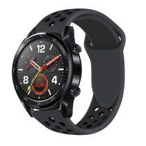 Huawei Watch GT Óraszíj - Szilikon Pótszíj Trendy Sport Style Fekete
