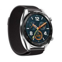 Huawei Watch GT FémSzíj - Pótszíj Mágneses Fekete