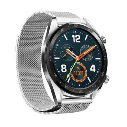 Huawei Watch GT FémSzíj - Pótszíj Mágneses Ezüst