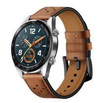 Huawei Watch GT Bőr Pótszíj - Óraszíj Barna