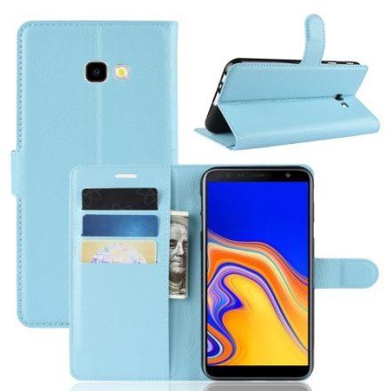 Samsung Galaxy J4+ / J4 Plus Notesz Tok Business Series Kitámasztható Bankkártyatartóval Világoskék
