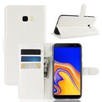 Samsung Galaxy J4+ / J4 Plus Notesz Tok Business Series Kitámasztható Bankkártyatartóval Fehér
