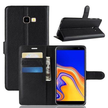 Samsung Galaxy J4+ / J4 Plus Notesz Tok Business Series Kitámasztható Bankkártyatartóval Fekete