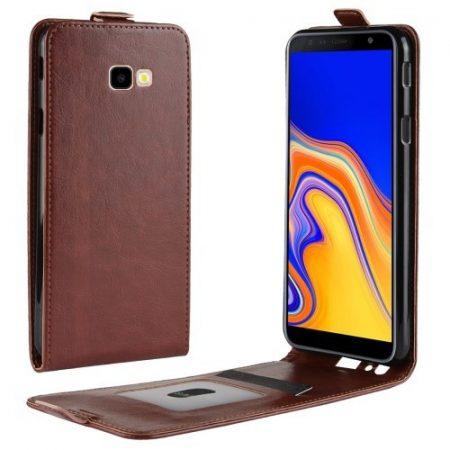 Samsung Galaxy J4+ / J4 Plus Flip Tok Mágneses Barna