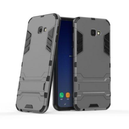 Samsung Galaxy J4+ / J4 Plus 2in1 Tok Ütésálló - Kitámasztható TPU Hybrid Szürke