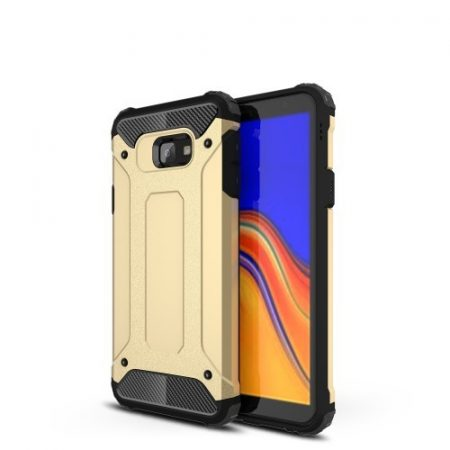 Samsung Galaxy J4+ / J4 Plus Ütésálló Armor Tok Guard Series 2in1 Arany