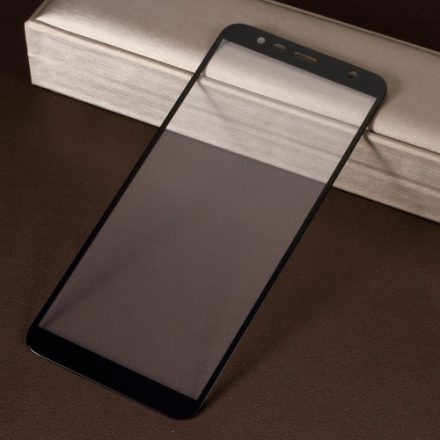 Samsung Galaxy J4+ / J4 Plus Tempered Glass Kijelzővédő Üveg - Silk 3D Fekete