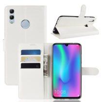 Huawei Honor 10 Lite Notesz Tok Business Series Kitámasztható Bankkártyatartóval Fehér
