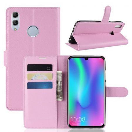 Huawei Honor 10 Lite Notesz Tok Business Series Kitámasztható Bankkártyatartóval Rózsaszín